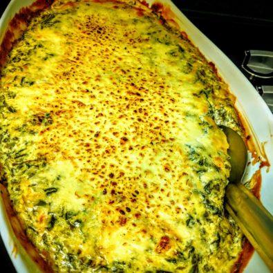 Trempette chaude épinard et fromages