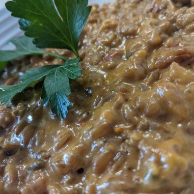 Risotto seigle tomates séchées et fromage de chèvre